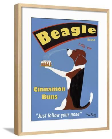 Beagle Buns-Ken Bailey-Framed Art Print