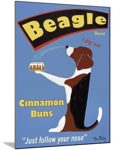 Beagle Buns-Ken Bailey-Mounted Premium Giclee Print