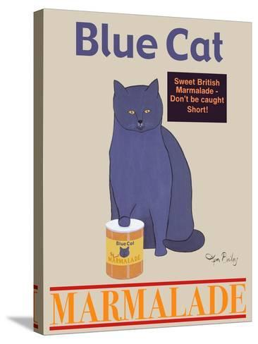 Blue Cat-Ken Bailey-Stretched Canvas Print