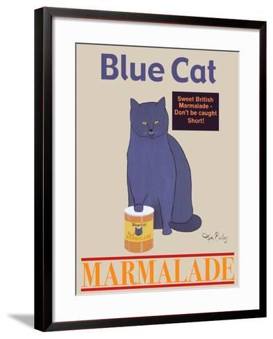 Blue Cat-Ken Bailey-Framed Art Print