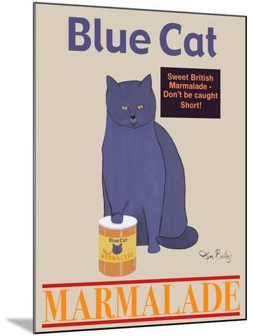 Blue Cat-Ken Bailey-Mounted Premium Giclee Print