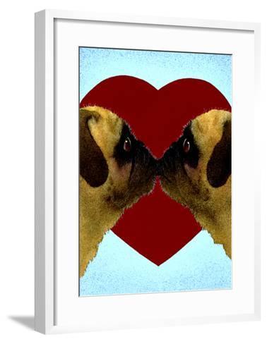 Pugs & Kisses-Will Bullas-Framed Art Print