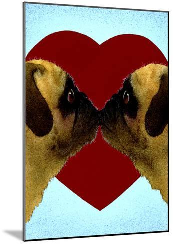 Pugs & Kisses-Will Bullas-Mounted Premium Giclee Print