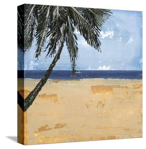 Peaceful Beach 1-David Dauncey-Stretched Canvas Print
