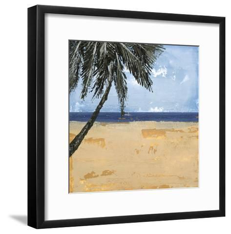 Peaceful Beach 1-David Dauncey-Framed Art Print