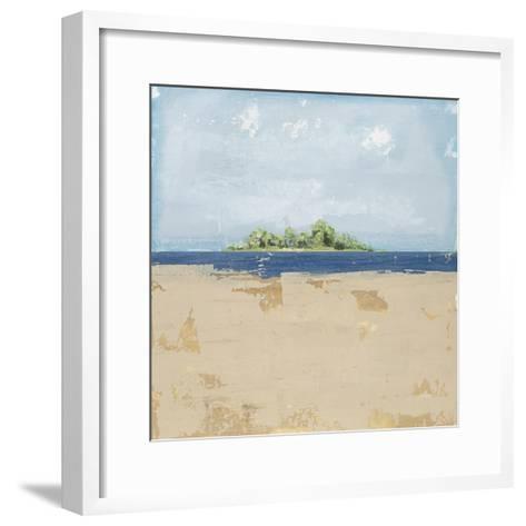 Peaceful Beach 2-David Dauncey-Framed Art Print