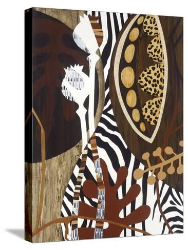 Safari 1-Mary Calkins-Stretched Canvas Print