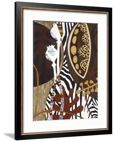 Safari 1-Mary Calkins-Framed Art Print