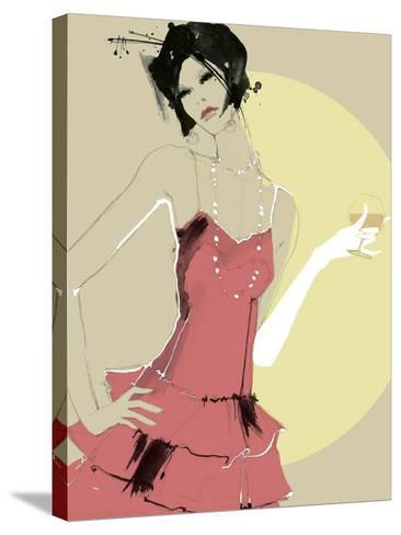 Lady in Red-Ashley David-Stretched Canvas Print