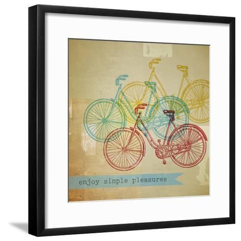 Bikes 1-Stella Bradley-Framed Art Print