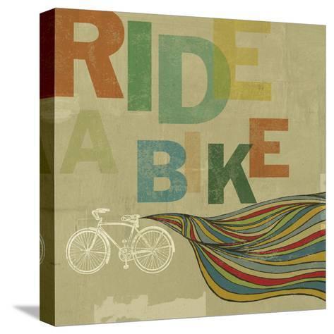 Bikes 2-Stella Bradley-Stretched Canvas Print
