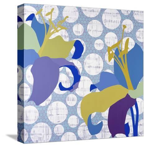 Purple Rain-Mary Calkins-Stretched Canvas Print