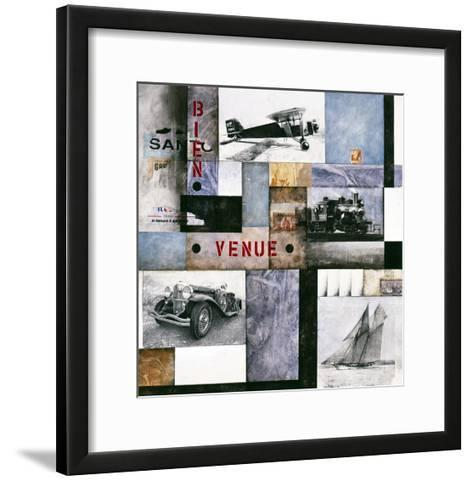 I Sea by Air by Land 1-Checo Diego-Framed Art Print