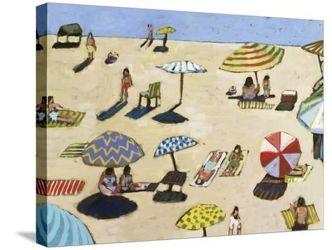Sunday At The Beach-David Dimond-Stretched Canvas Print