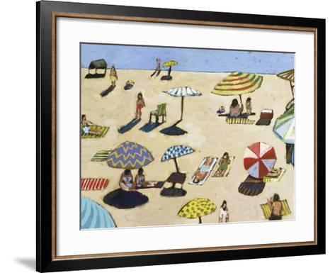 Sunday At The Beach-David Dimond-Framed Art Print