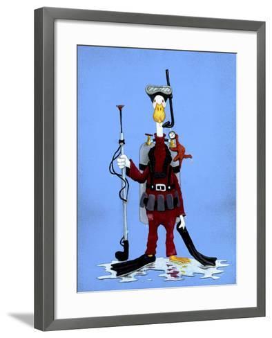 Aquaduck-Will Bullas-Framed Art Print