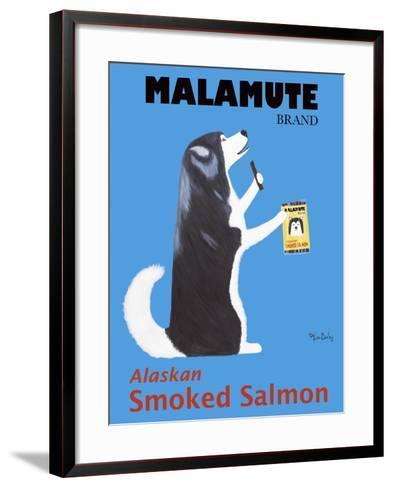 Malamute Salmon-Ken Bailey-Framed Art Print
