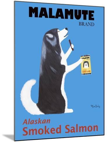Malamute Salmon-Ken Bailey-Mounted Premium Giclee Print