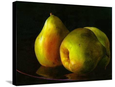 Three Pears-Terri Hill-Stretched Canvas Print