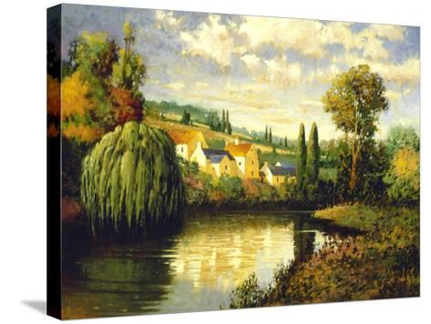 Summer at Limoux-Max Hayslette-Stretched Canvas Print