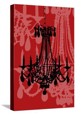 Chandelier 4 Wine-Sharyn Sowell-Stretched Canvas Print