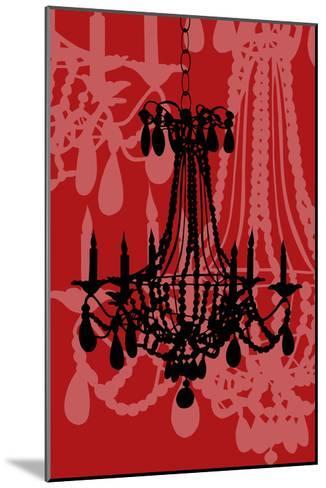 Chandelier 4 Wine-Sharyn Sowell-Mounted Premium Giclee Print