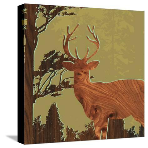 Deer 1-jefdesigns-Stretched Canvas Print