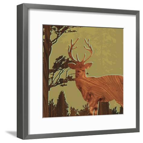Deer 1-jefdesigns-Framed Art Print
