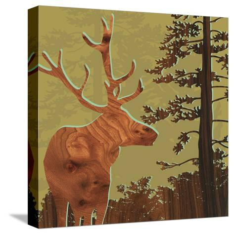Deer 2-jefdesigns-Stretched Canvas Print