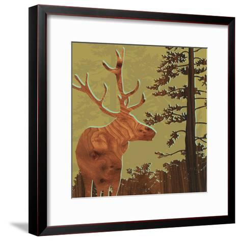 Deer 2-jefdesigns-Framed Art Print