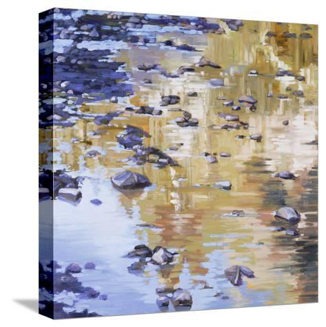 River Rocks & Reflections-Sarah Waldron-Stretched Canvas Print