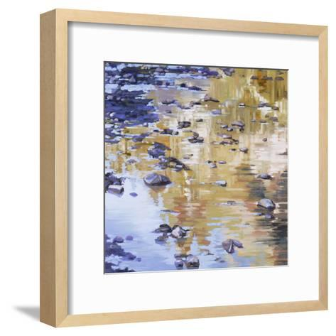 River Rocks & Reflections-Sarah Waldron-Framed Art Print