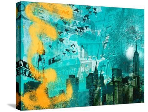 City Scrim C-GI ArtLab-Stretched Canvas Print