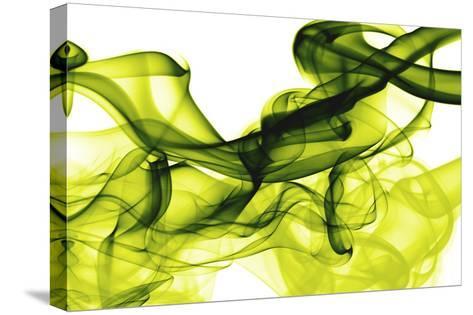 Green Smoke-GI ArtLab-Stretched Canvas Print