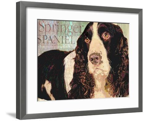 Springer Spaniel-Wendy Presseisen-Framed Art Print
