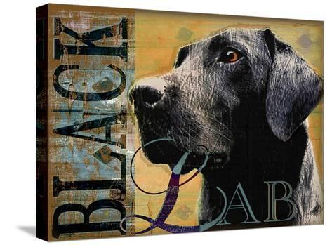 Black Lab-Wendy Presseisen-Stretched Canvas Print