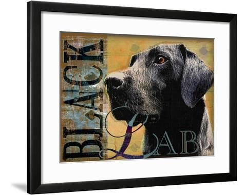 Black Lab-Wendy Presseisen-Framed Art Print