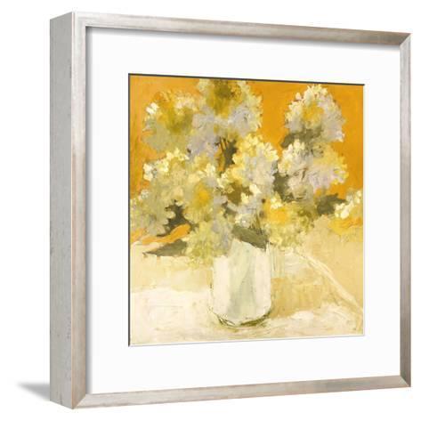 White Hydrangea Bouquet-Dale Payson-Framed Art Print