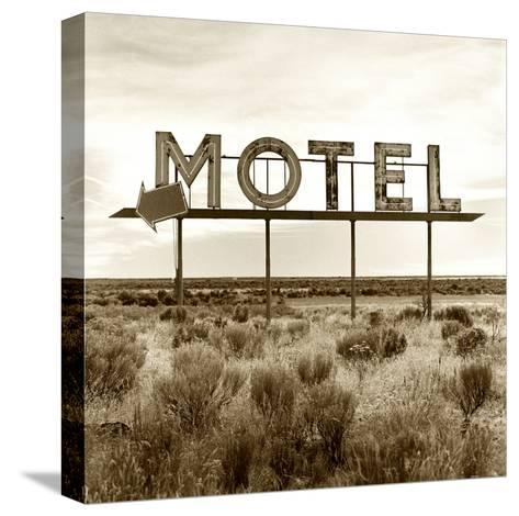 Motel Sign-TM Photography-Stretched Canvas Print