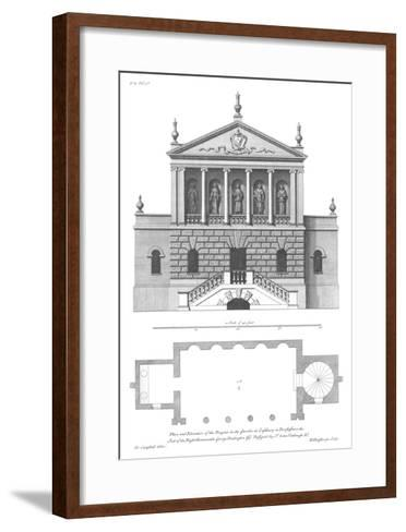 Vitruvius Britannicus 3, Colen Campbell-Porter Design-Framed Art Print
