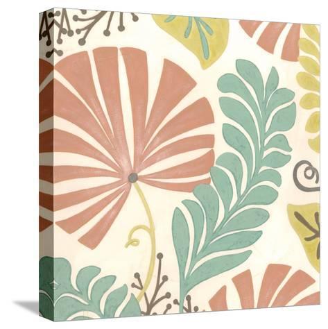Veranda Floral I-Erica J^ Vess-Stretched Canvas Print