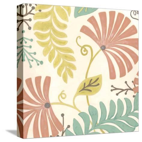 Veranda Floral III-Erica J^ Vess-Stretched Canvas Print