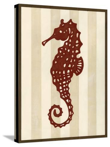 Sea Life Silhouette I-June Erica Vess-Stretched Canvas Print