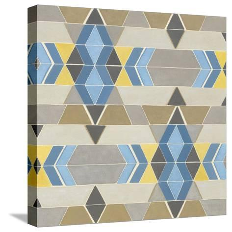 Blue and Yellow Geometry II-Megan Meagher-Stretched Canvas Print