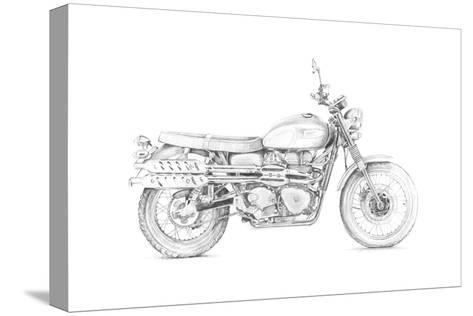 Motorcycle Sketch III-Megan Meagher-Stretched Canvas Print