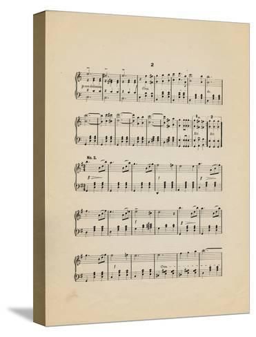 Collection of Illustrated American Sheet Music, Geography Sub Series--Stretched Canvas Print