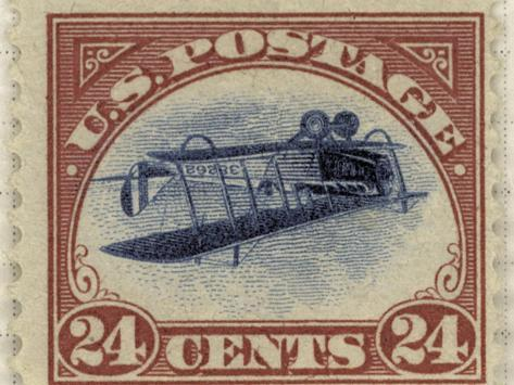 24-Cent U.S. Postage Stamp with an Inverted Jenny--Stretched Canvas Print
