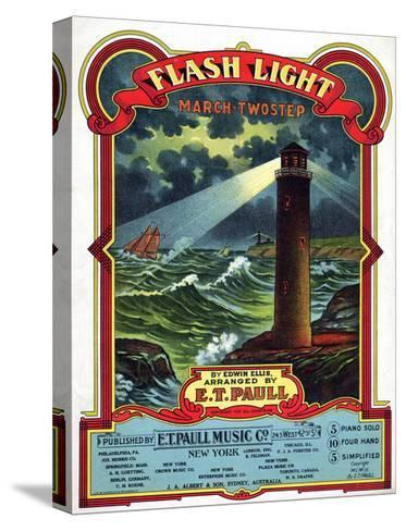 """Flash Light"" from the Sheet Music Collection at National Museum of American History--Stretched Canvas Print"