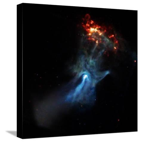 At the Center of this Chandra Image, a Pulsar, Responsible for this X-ray Nebula--Stretched Canvas Print