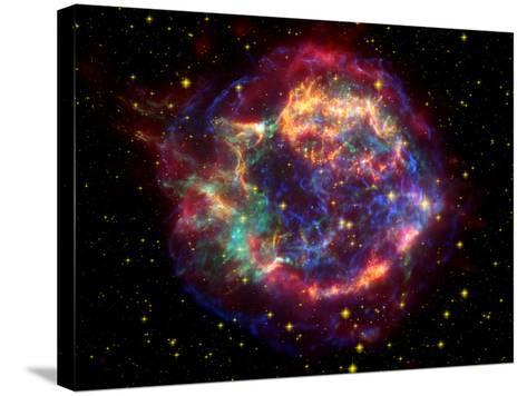 Stunning Composite Picture of Cas A,  Infrared Image from the Spitzer Space Telescope--Stretched Canvas Print